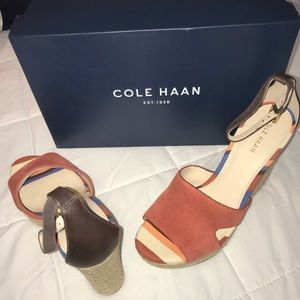 NIB COLE HAAN ESPADRILLE WEDGE, WOMENS, SZ 6.5